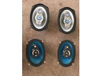 Pioneer and JVC 6 x 9 parcel shelf speakers