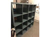 Ikea modern bookcase grey gloss.