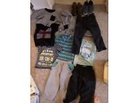 Bundle of boys clothes and shoes