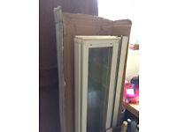 Bath Shower screen, glass, 5 fold, white frame