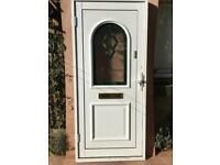 MONARCH BRIGHT WHITE UPVC / ALUMINIUM FRONT DOOR