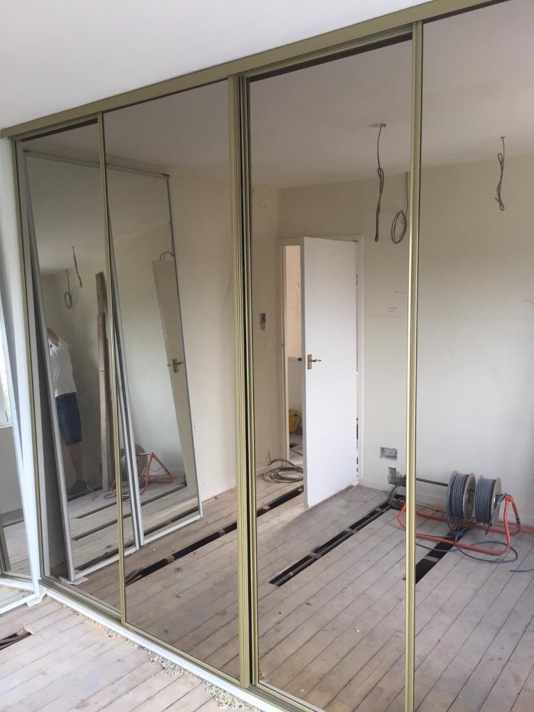 Sliding Mirror Doors And Track