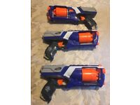 12 x Nerf gun set with table cover and targets (Wedding or party set)