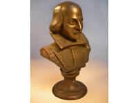 """Collectable Repro Metal William Shakespeare Bust 9.5"""" Tall (WH_1315)"""