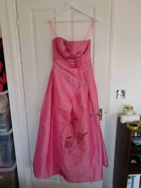 Pink prom ball gown dress