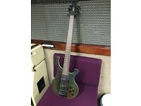 Cort 5-string active Bass guitar, colour = black holographic, great condition
