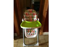 Mamas and Papas pesto pear highchair