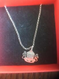 925 sterling silver official Sunderland AFC pendant and chain