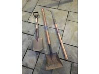 Spear & Jackson spade, sithe & long handle shovel
