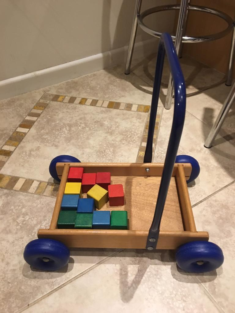 Babytoddler Wooden Trolley With Bricks In Tadley Hampshire Gumtree