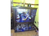Solid oak cocktail cabinet - with all the accessories - Mini bar
