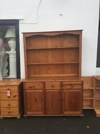 DRESSER. QUALITY PINE. 2 PARTS FOR EASY TRANSPORTATION. LOVELY LOOKING. TOP QUALITY