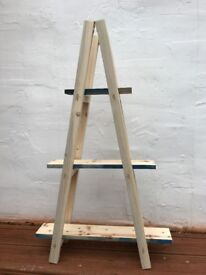 New Small Vintage Wooden Ladder Shelf for home or Shop Display Book or Plant
