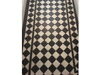 Black and White Victorian Style Floor Tiles