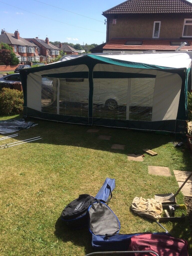 Bradcot full size awning, size 1020 green and grey