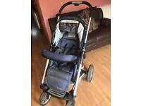 Mutsy 4 rider Pram with carry cot . Buggy . Pushchair. Stroller . Travel system