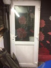 Double glazed pvc door
