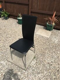 4 Faux Leather High back Dining table Chairs