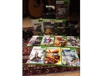 Xbox 360 slim and 12 games