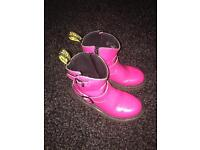Girls bright pink Dr.Martens size 12 boots