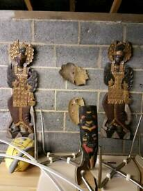 Set of African wooden souvenirs