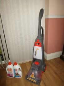 VAX WASH HOOVER & cleaning bottles, ..... ( as new ! )