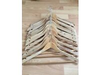 Coat hangers and cloth shelving