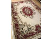 Red and cream rug