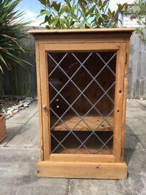 Pine Hi Fi Display Cabinet