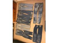 Ladies Denim jeans bundle suitable for upcycling project