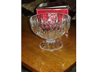 LEAD CRYSTAL BOWL.....BRAND NEW WITH BOX