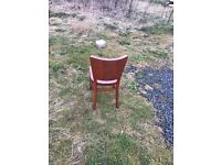 Large lot of 108 solid wood dining chairs