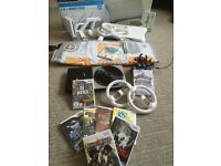 MASSIVE BUNDLE - Nintendo Wii Console + Wii Fit Board + Skylanders + Dance Mat + 10 Games + More