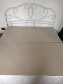 Super king size bed base with headboard
