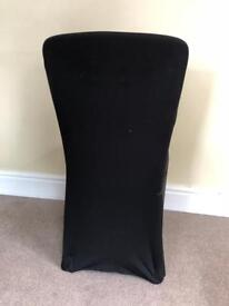 Stretchy black chair covers