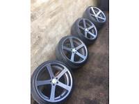 "19"" Cade Apollo wheels ( 5x100 vw golf bora Toledo seat Leon )"