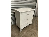 FREE DELIVERY IKEA BRUSALI WHITE CHEST OF 3 DRAWERS GREAT CONDITION