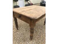 Rustic farmhouse pine table