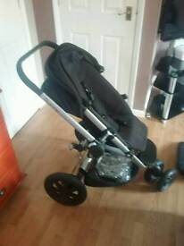 Quinny Buzz black pushchair great condition