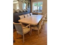 Dining Table with 10 Chairs