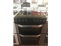 60CM BLACK BELLING ELECTRIC COOKER DOUBLE OVEN