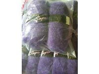 12 x 100g balls purple knitting yarn