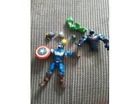 Captain America and interchangeable avenger parts