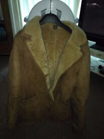 Womans sheepskin coat