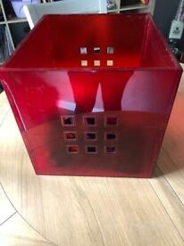 Red plastic IKEA basket X3