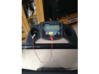 Running machine. As new hardly used smoke free home. Instruction booklet included folds away.