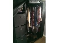 Large canvas pop up wardrobe