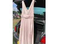 Issa Bridemaid Dress Champagne Colour S12