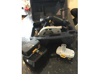 18 VOLT CIRCULAR & JIGSAW SET, with TWO Cases, TWO Chargers and FOUR Battery's
