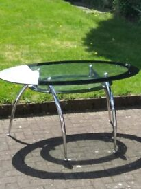 Glass dining table with chair set